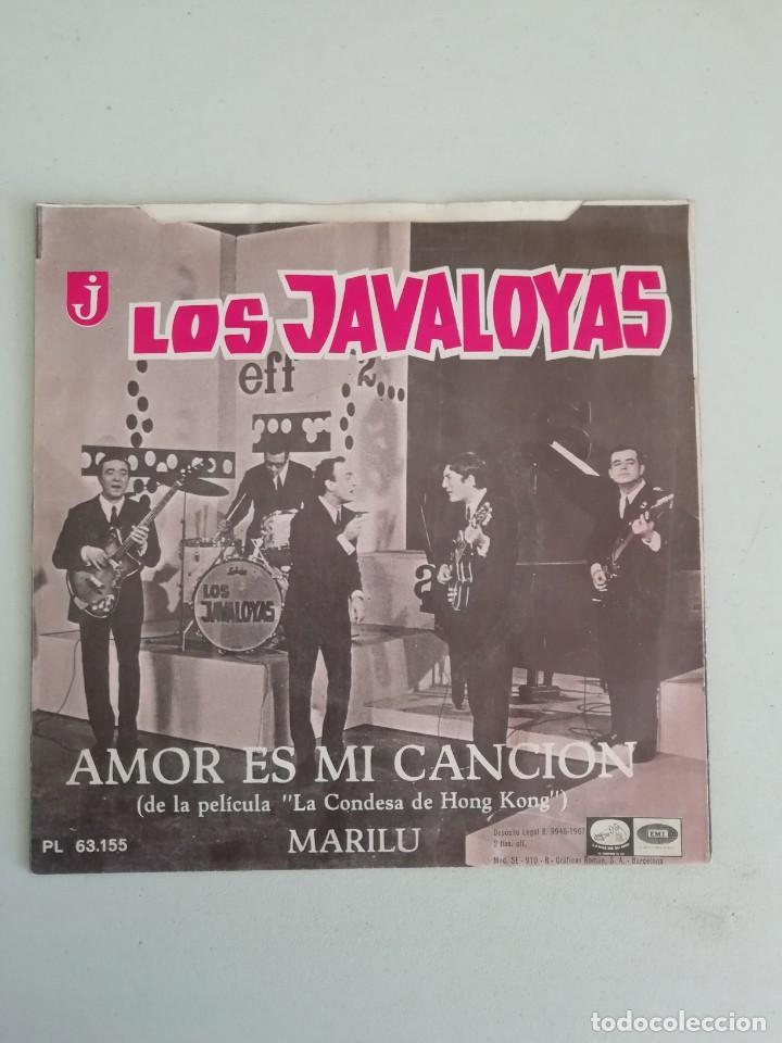 LOS JAVALOYAS AMOR ES MI CANCION (Música - Discos - Singles Vinilo - Grupos Españoles 50 y 60)