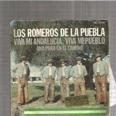 Discos de vinilo: ROMEROS PUEBLA VIVA MI ANDALUCIA. Lote 171680345