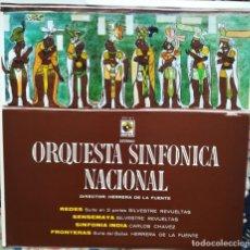 Discos de vinilo: REVUELTAS,CHÁVEZ Y HERRERA DE LA FUENTE. TRES COMPOSITORES MEXICANOS. ORQUESTA SINFÓNICA DE MÉXICO. Lote 171690602