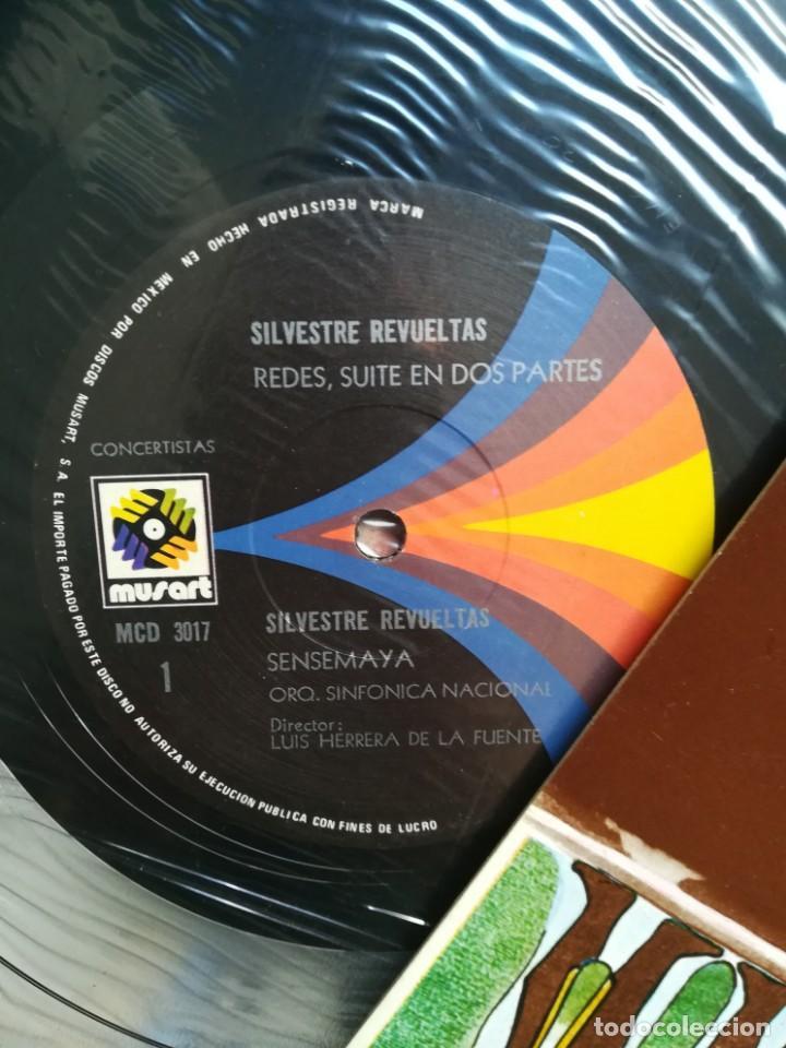 Discos de vinilo: Revueltas,Chávez y Herrera de la Fuente. Tres compositores mexicanos. Orquesta sinfónica de México - Foto 4 - 171690602