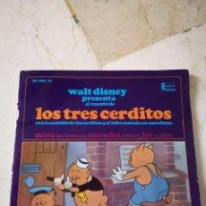 Discos de vinilo: LOS TRES CERDITOS VINILO SINGLE. Lote 171699442