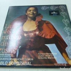 Discos de vinilo: LA DEL MANOJO DE ROSAS-PABLO SOROZABAL -LP -N. Lote 171703010