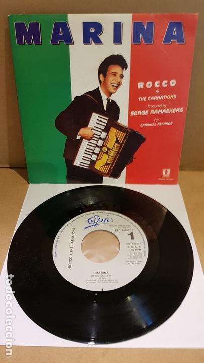 ROCCO & THE CARNATIONS / MARINA / SG - EPIC-1989 / DE LUJO. ****/**** (Música - Discos - Singles Vinilo - Canción Francesa e Italiana)