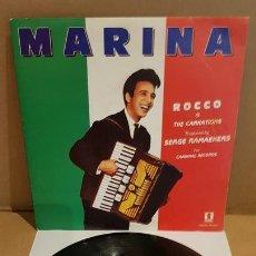 Discos de vinilo: ROCCO & THE CARNATIONS / MARINA / SG - EPIC-1989 / DE LUJO. ****/****. Lote 171703030