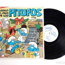 Discos de vinilo: LP RARO. NAVIDAD EN EL PAÍS DE LOS PITUFOS. 1987. Lote 171718017
