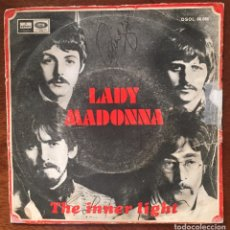 Discos de vinilo: THE BEATLES. LADY MADONNA/ THE INNER LIGHT.. Lote 171719023