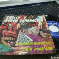 Discos de vinilo: SHELLY Y LA NUEVA GENERACIÓN SINGLE MR. TRAIN, HURRY UP 1968. Lote 171739728
