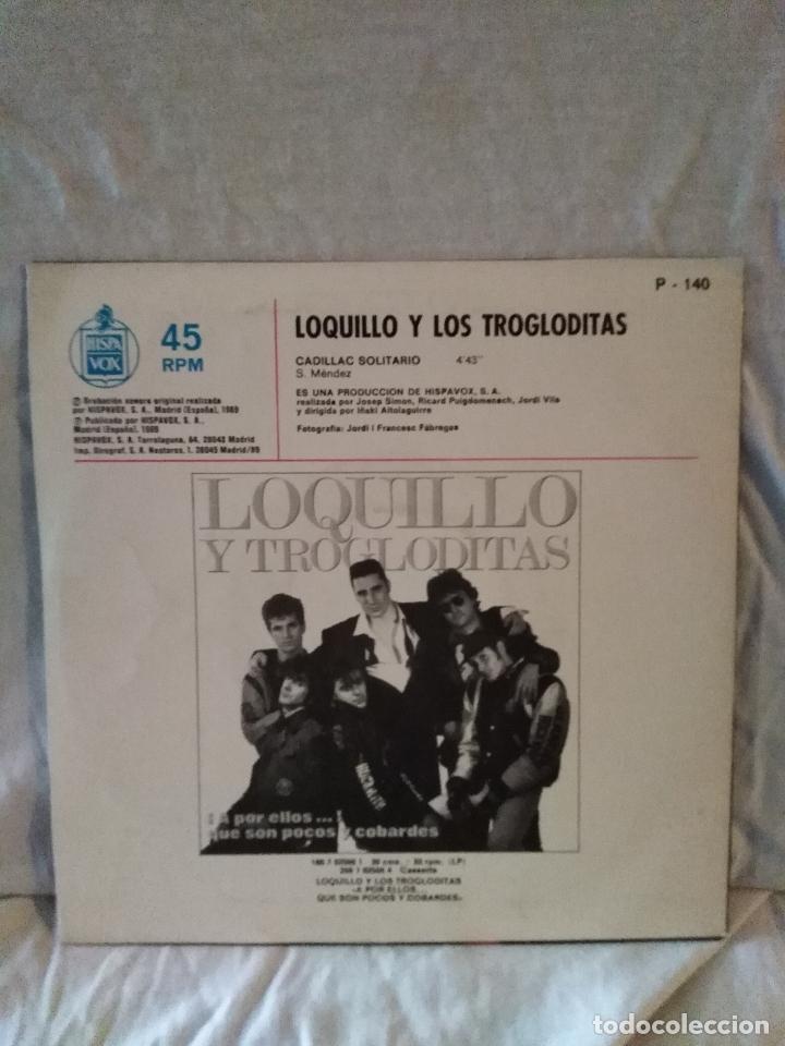 Discos de vinilo: Loquillo Y Trogloditas ?– Cadillac Solitario. PROMOCIONAL - Foto 3 - 171740052