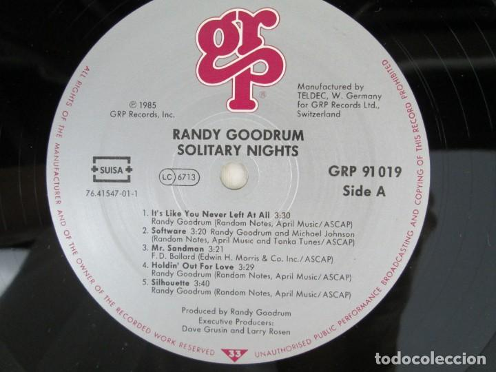 Discos de vinilo: RANDY GOODRUM. SOLITARY NIGHTS. LP VINILO. DIGITAL MASTER GRP RECORDS 1985. VER FOTOGRAFIAS ADJUNTAS - Foto 4 - 171745653