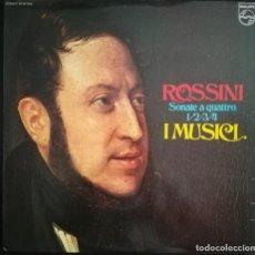 Discos de vinilo: ROSSINI. CUATRO SONATAS PARA 2 VIOLINES, VIOLONCHELO Y CONTRABAJO. Lote 171745902