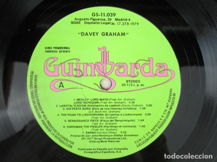 Discos de vinilo: DAVEY GRAHAM. THE COMPLETE GUITARIST. LP VINILO. GUIMBARDA ZAFIRO 1979. VER FOTOGRAFIAS ADJUNTAS - Foto 4 - 171745967