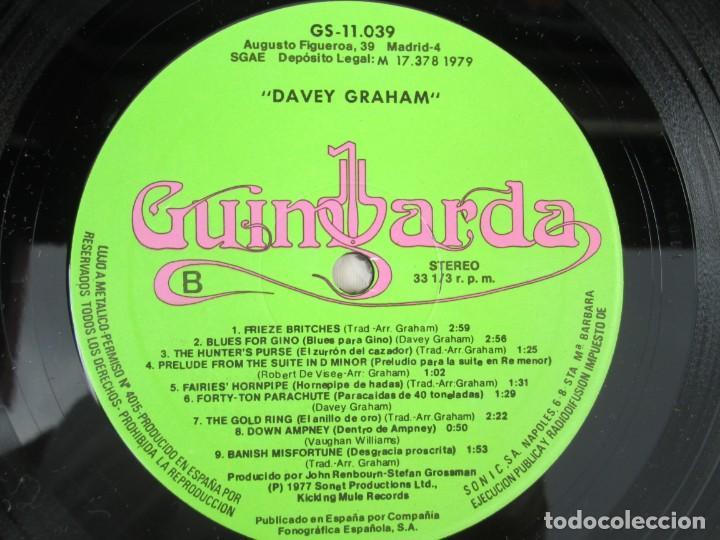 Discos de vinilo: DAVEY GRAHAM. THE COMPLETE GUITARIST. LP VINILO. GUIMBARDA ZAFIRO 1979. VER FOTOGRAFIAS ADJUNTAS - Foto 6 - 171745967