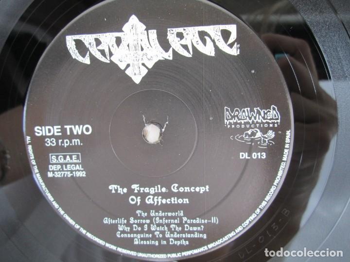 Discos de vinilo: EX OBLIVIONE. CARTILAGE. THE FRAGILE CONCEPT OF AFFECTION. LP VINILO. DRAWNED PRODUCTIONS 1992. - Foto 8 - 171746704
