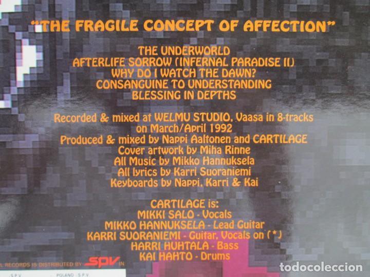 Discos de vinilo: EX OBLIVIONE. CARTILAGE. THE FRAGILE CONCEPT OF AFFECTION. LP VINILO. DRAWNED PRODUCTIONS 1992. - Foto 10 - 171746704