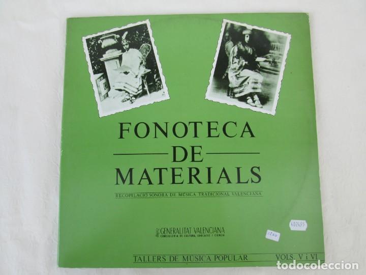 Discos de vinilo: FONOTECA DE MATERIALS. RECOPILACIO SONORA DE MUSICA TRADICIONAL VALENCIANA. VOL V-VI. LP VINILO.1986 - Foto 2 - 171747508