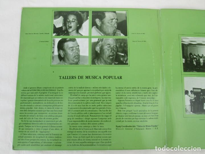 Discos de vinilo: FONOTECA DE MATERIALS. RECOPILACIO SONORA DE MUSICA TRADICIONAL VALENCIANA. VOL V-VI. LP VINILO.1986 - Foto 4 - 171747508