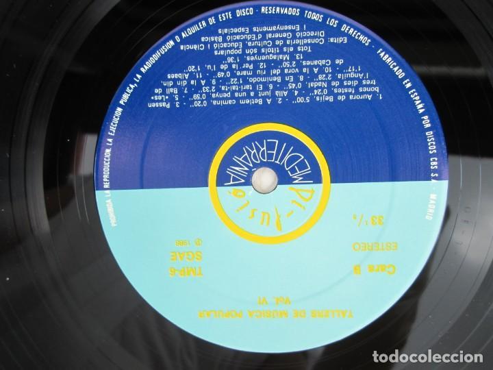 Discos de vinilo: FONOTECA DE MATERIALS. RECOPILACIO SONORA DE MUSICA TRADICIONAL VALENCIANA. VOL V-VI. LP VINILO.1986 - Foto 12 - 171747508