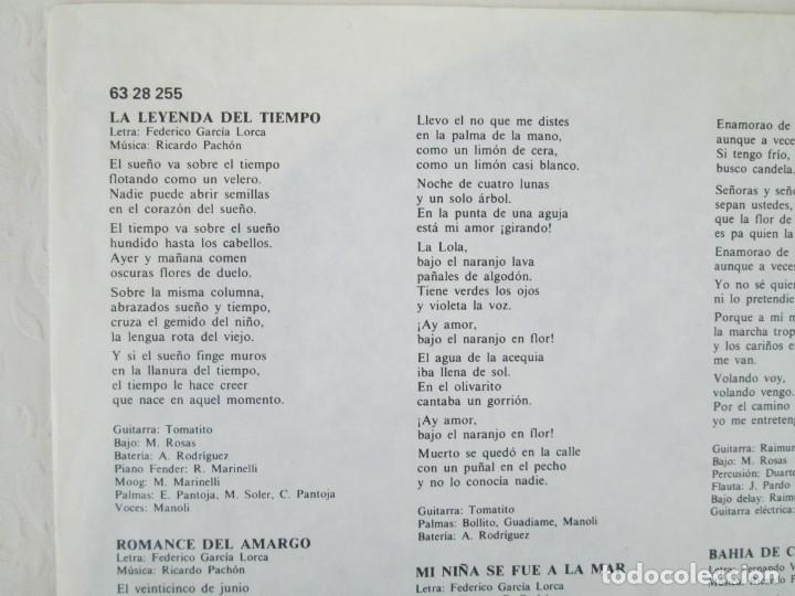 Discos de vinilo: CAMARON. LA LEYENDA DEL TIEMPO. LP VINILO. PHILIPS FONOGRAM 1979. VER FOTOGRAFIAS ADJUNTAS - Foto 4 - 171748709