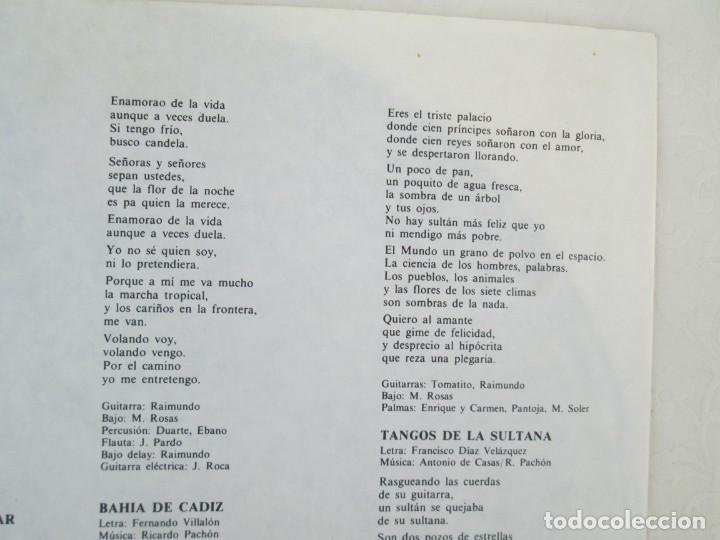 Discos de vinilo: CAMARON. LA LEYENDA DEL TIEMPO. LP VINILO. PHILIPS FONOGRAM 1979. VER FOTOGRAFIAS ADJUNTAS - Foto 5 - 171748709