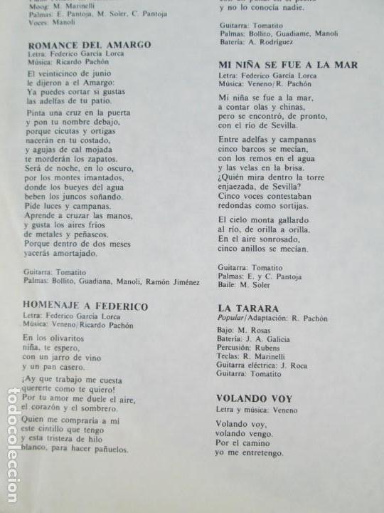 Discos de vinilo: CAMARON. LA LEYENDA DEL TIEMPO. LP VINILO. PHILIPS FONOGRAM 1979. VER FOTOGRAFIAS ADJUNTAS - Foto 6 - 171748709