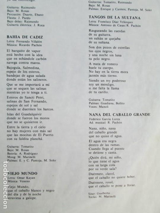 Discos de vinilo: CAMARON. LA LEYENDA DEL TIEMPO. LP VINILO. PHILIPS FONOGRAM 1979. VER FOTOGRAFIAS ADJUNTAS - Foto 7 - 171748709