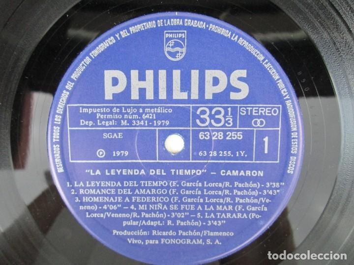 Discos de vinilo: CAMARON. LA LEYENDA DEL TIEMPO. LP VINILO. PHILIPS FONOGRAM 1979. VER FOTOGRAFIAS ADJUNTAS - Foto 9 - 171748709