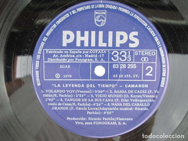 Discos de vinilo: CAMARON. LA LEYENDA DEL TIEMPO. LP VINILO. PHILIPS FONOGRAM 1979. VER FOTOGRAFIAS ADJUNTAS - Foto 11 - 171748709