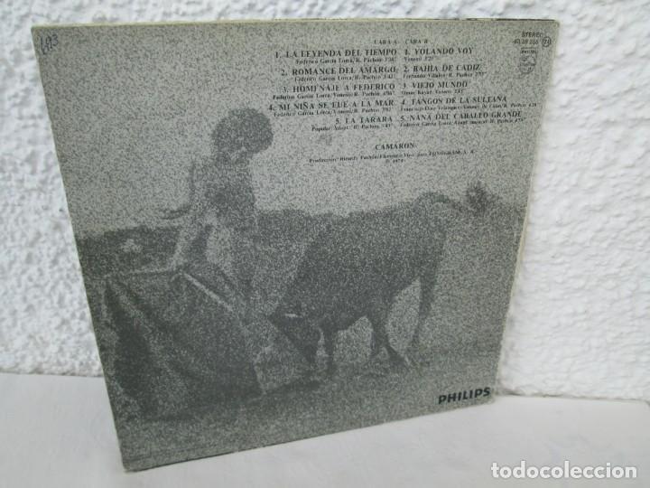 Discos de vinilo: CAMARON. LA LEYENDA DEL TIEMPO. LP VINILO. PHILIPS FONOGRAM 1979. VER FOTOGRAFIAS ADJUNTAS - Foto 14 - 171748709
