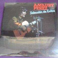 Discos de vinilo: AMAURY PÉREZ LP MOVIEPLAY 1982 PRECINTADO - SELECCIÓN DE ÉXITOS NUEVA TROVA CUBA - SILVIO RODRIGUEZ. Lote 171754553