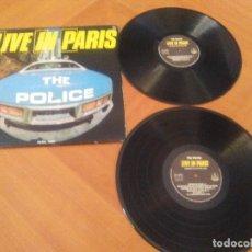 Discos de vinilo: JOYA/MUY RARO. DOBLE LP. POLICE THE LIVE IN PARIS.SELLO GOLDEN STAR GSLP 2094 BS.. Lote 171755012