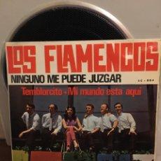 Discos de vinilo: LOS FLAMENCOS-NINGUNO ME PUEDE JUZGAR+3-1966. Lote 171773468