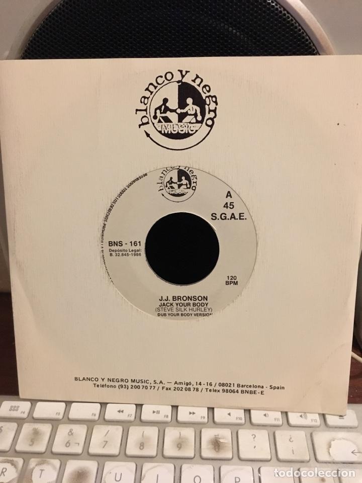 J.J BRONSON-JACK YOUR BODY-1986-PROMO NUEVO (Música - Discos - Singles Vinilo - Techno, Trance y House)