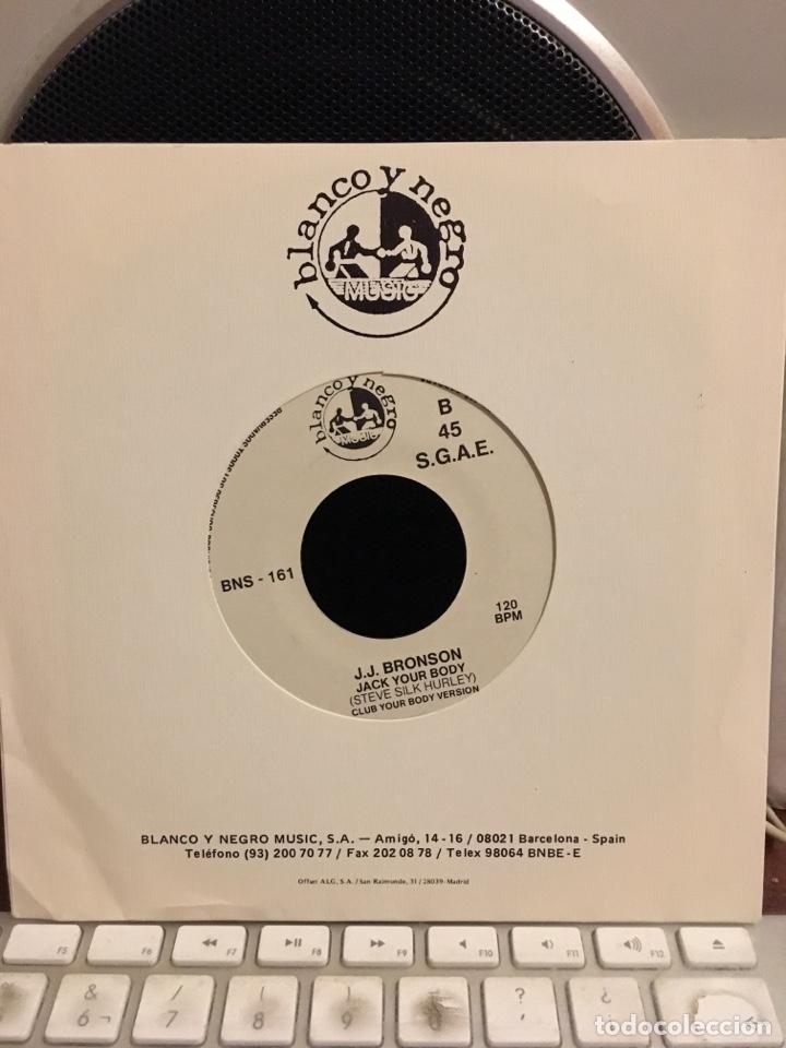Discos de vinilo: J.J BRONSON-JACK YOUR BODY-1986-PROMO NUEVO - Foto 2 - 171773798
