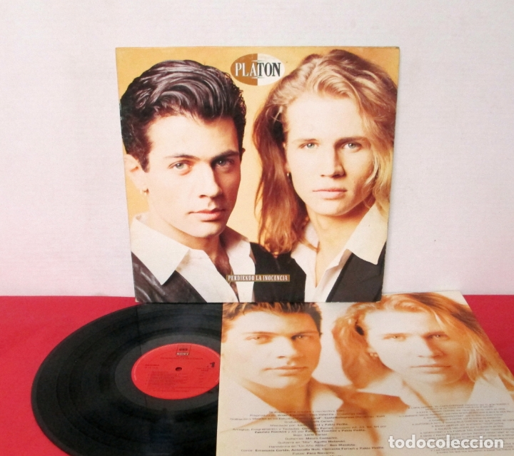 PLATON - PERDIENDO LA INOCENCIA - LP - CBS/SONY 1992 SPAIN + LETRAS (Música - Discos - LP Vinilo - Solistas Españoles de los 70 a la actualidad)
