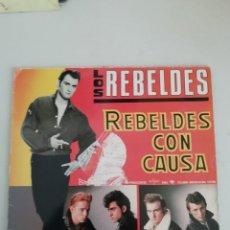 Discos de vinilo: LOS REBELDES REBELDES CON CAUSA. Lote 171796888