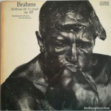 Discos de vinilo: BRAHMS, SINFONÍA N. 1. STAATSKAPELLE DRESDEN. VINILO DEL SELLO ETERNA, ALEMANIA. Lote 171800843