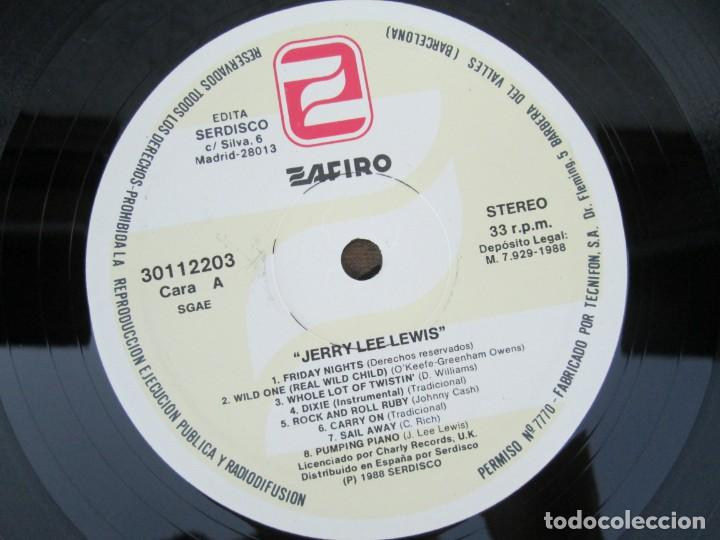Discos de vinilo: JERRY LEE LEVIS. AND HIS PUMPING PIANO. LP VINILO. SERDISCO 1988. VER FOTOGRAFIAS ADJUNTAS - Foto 4 - 171803784