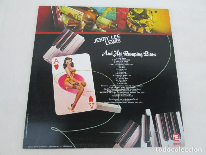 Discos de vinilo: JERRY LEE LEVIS. AND HIS PUMPING PIANO. LP VINILO. SERDISCO 1988. VER FOTOGRAFIAS ADJUNTAS - Foto 8 - 171803784