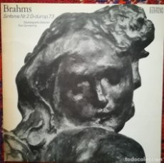 Discos de vinilo: BRAHMS, SINFONÍA N.2. STAATSKAPELLE DRESDEN. VINILO DEL SELLO ETERNA.. Lote 171804305
