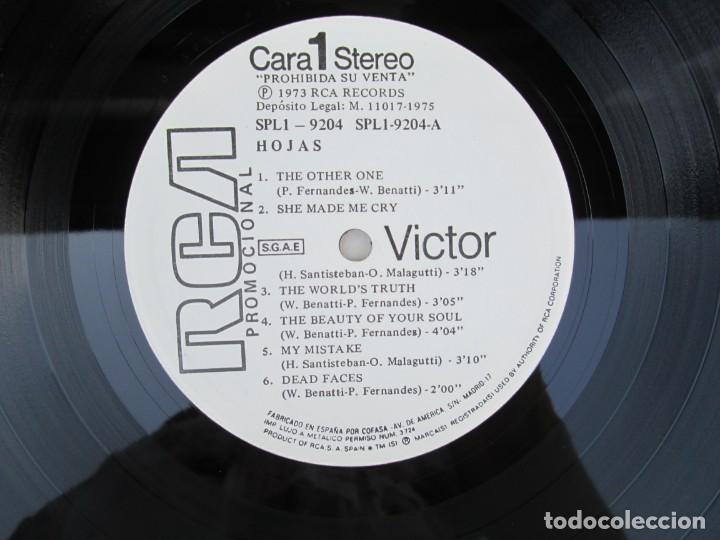 Discos de vinilo: HOJAS. LP VINILO. RCA VICTOR. 1975. VER FOTOGRAFIAS ADJUNTAS - Foto 3 - 171804630