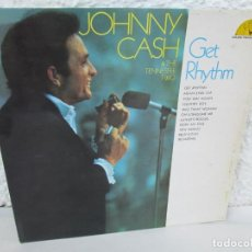 Discos de vinilo: JOHNNY CASH. THE TENNESSEE TWO. GET RHYTHM. LP VINILO. PHILIPS RECORDS SUN 1969. VER FOTOGRAFIAS . Lote 171804858