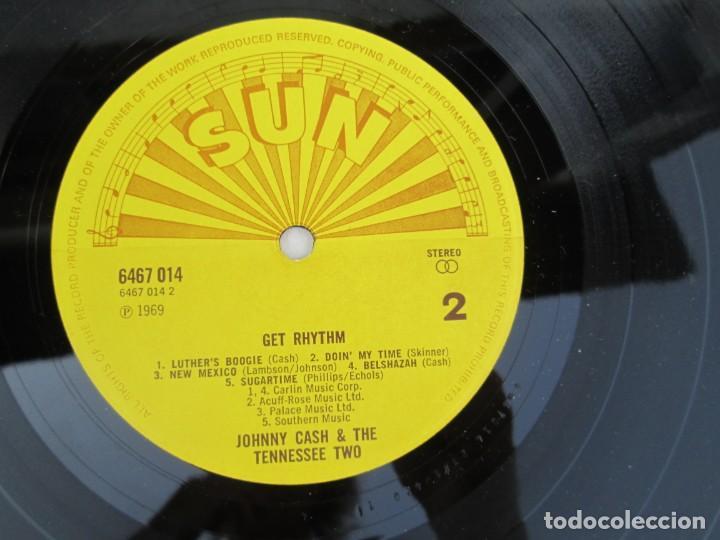 Discos de vinilo: JOHNNY CASH. THE TENNESSEE TWO. GET RHYTHM. LP VINILO. PHILIPS RECORDS SUN 1969. VER FOTOGRAFIAS - Foto 6 - 171804858