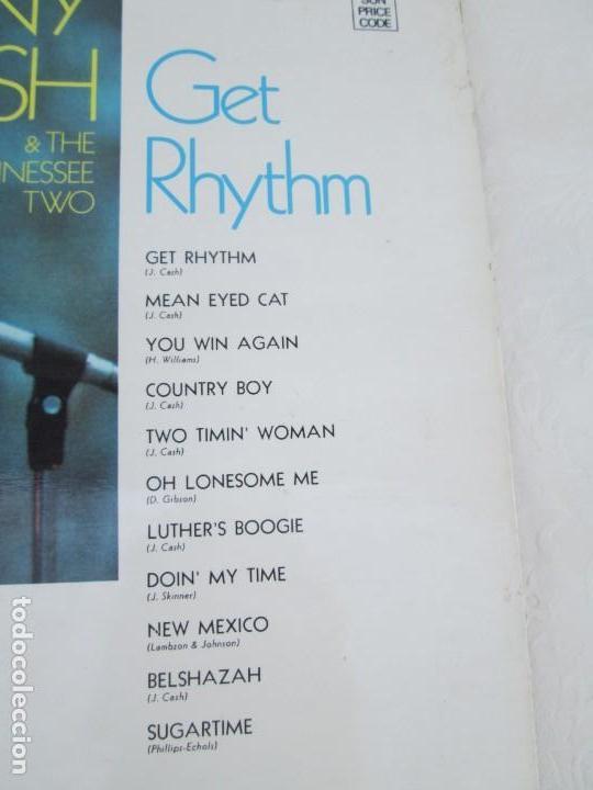 Discos de vinilo: JOHNNY CASH. THE TENNESSEE TWO. GET RHYTHM. LP VINILO. PHILIPS RECORDS SUN 1969. VER FOTOGRAFIAS - Foto 7 - 171804858