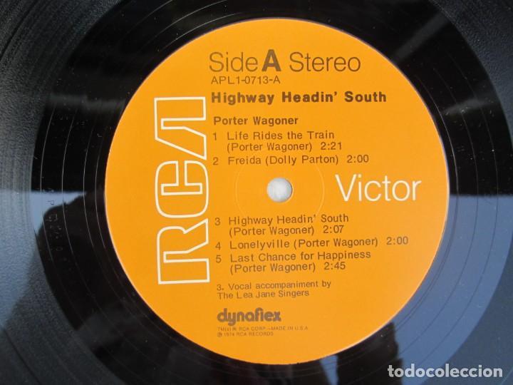 Discos de vinilo: PORTER WAGONER. HIGHWAY HEADIN´SOUTH. LP VINILO. RCA RECORDS 1974. VER FOTOGRAFIAS ADJUNTAS - Foto 4 - 171805112