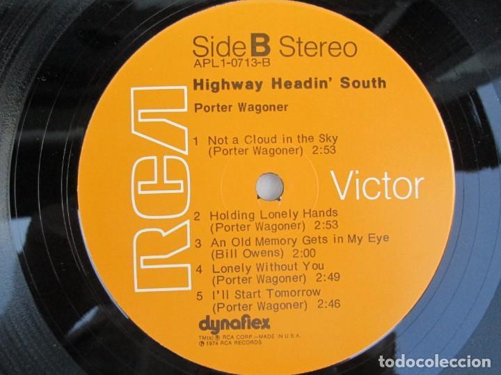 Discos de vinilo: PORTER WAGONER. HIGHWAY HEADIN´SOUTH. LP VINILO. RCA RECORDS 1974. VER FOTOGRAFIAS ADJUNTAS - Foto 6 - 171805112