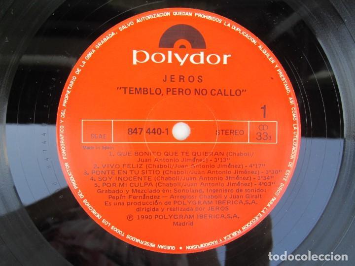 Discos de vinilo: JEROS. TEMBLO PERO NO CALLO. LP VINILO. POLYGRAM IBERICA 1990. VER FOTOGRAFIAS ADJUNTAS - Foto 4 - 171805237