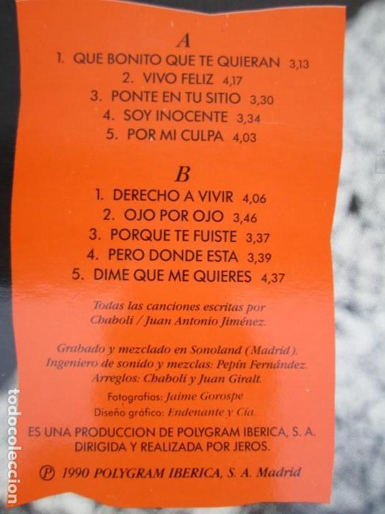 Discos de vinilo: JEROS. TEMBLO PERO NO CALLO. LP VINILO. POLYGRAM IBERICA 1990. VER FOTOGRAFIAS ADJUNTAS - Foto 7 - 171805237