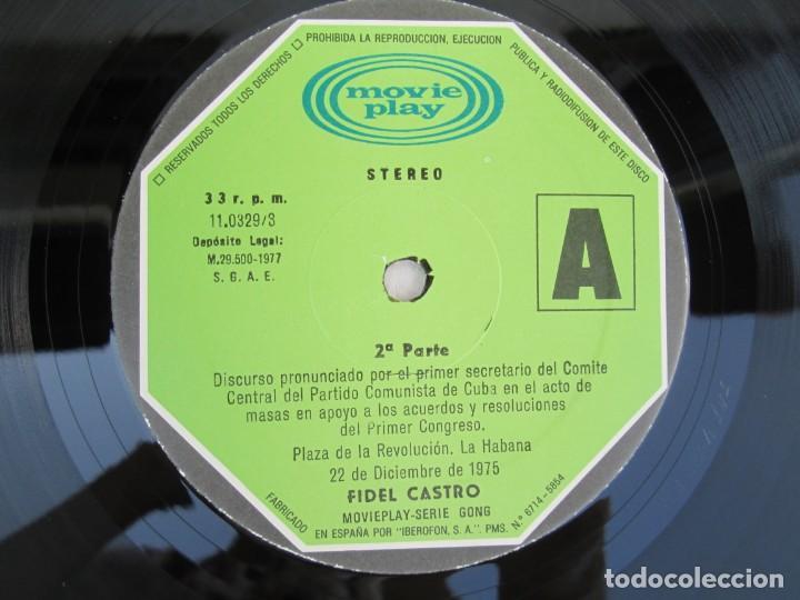 Discos de vinilo: NUESTRA PALABRA VOL 3. DISCURSO EN LA PALZA DE LA REVOLUCION 22 DIC 75. FIDEL CASTRO. LP VINILO - Foto 4 - 171805424