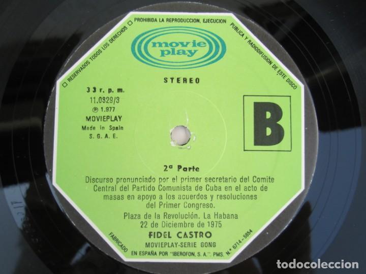 Discos de vinilo: NUESTRA PALABRA VOL 3. DISCURSO EN LA PALZA DE LA REVOLUCION 22 DIC 75. FIDEL CASTRO. LP VINILO - Foto 6 - 171805424