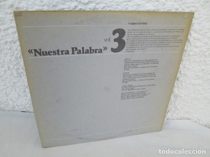 Discos de vinilo: NUESTRA PALABRA VOL 3. DISCURSO EN LA PALZA DE LA REVOLUCION 22 DIC 75. FIDEL CASTRO. LP VINILO - Foto 9 - 171805424